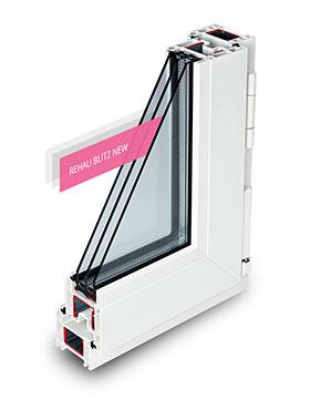 Окна Rehau Blitz new - эконом вариант, ничего лишнего, отлично выполняет свою функцию, сохраняет тепло и изолирует от шума
